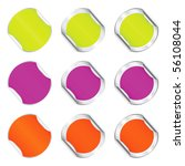 set varicolored round stickers | Shutterstock . vector #56108044