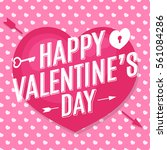 happy valentine's day card with ... | Shutterstock .eps vector #561084286