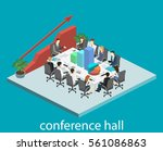 business meeting in an office... | Shutterstock . vector #561086863