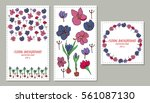 invitation card with floral... | Shutterstock .eps vector #561087130