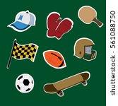 sports equipment  cap ... | Shutterstock .eps vector #561088750