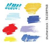 grunge hand drawn brush stroke... | Shutterstock .eps vector #561089968