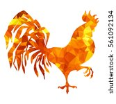 fiery red rooster   a symbol of ... | Shutterstock .eps vector #561092134
