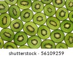 kiwi slices on white background | Shutterstock . vector #56109259