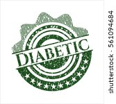 green diabetic distressed... | Shutterstock .eps vector #561094684