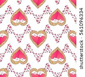 valentines day seamless pattern ...   Shutterstock .eps vector #561096334