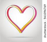isometric love heart symbol.... | Shutterstock .eps vector #561096769