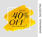 sale up to 40  off sign over... | Shutterstock .eps vector #561101764
