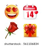 cute valentine's day elements... | Shutterstock .eps vector #561106834