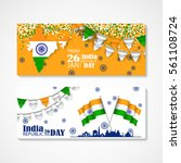 india republic day.... | Shutterstock .eps vector #561108724