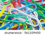 multi coloured writing paper... | Shutterstock . vector #561109450