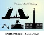 monuments of sankt piterburga   Shutterstock .eps vector #56110960