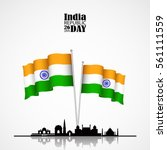 india flag 3d isolated with... | Shutterstock .eps vector #561111559