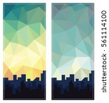 geometric abstract low poly...   Shutterstock .eps vector #561114100