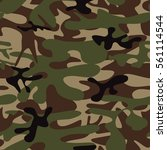 camouflage seamless pattern.... | Shutterstock .eps vector #561114544