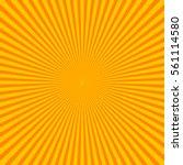 sun rays  sunburst on orange... | Shutterstock .eps vector #561114580