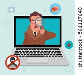 internet security and spyware... | Shutterstock .eps vector #561117640
