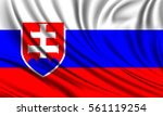 flag of slovakia. realistic... | Shutterstock .eps vector #561119254