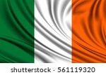 flag of ireland. realistic...