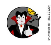 dracula thumbs up shows well.... | Shutterstock . vector #561121204