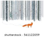 winter forest landscape with a... | Shutterstock .eps vector #561122059