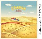cheese village. vector... | Shutterstock .eps vector #561122293