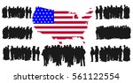 green card application. vector... | Shutterstock .eps vector #561122554