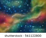 cosmic galaxy background with... | Shutterstock .eps vector #561122800