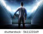 football player with ball in... | Shutterstock . vector #561123169