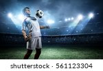 football player withstand a... | Shutterstock . vector #561123304