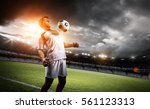 football player withstand a... | Shutterstock . vector #561123313