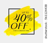 sale up to 40  off sign over... | Shutterstock .eps vector #561124438