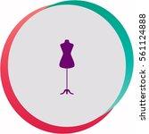 dressmaker model  icon. vector... | Shutterstock .eps vector #561124888