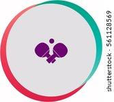 table tennis  icon. vector... | Shutterstock .eps vector #561128569