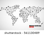 abstract world map of dots and... | Shutterstock .eps vector #561130489