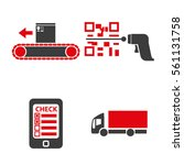 set of icons on a theme of... | Shutterstock .eps vector #561131758