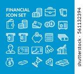 financial icon set. vector | Shutterstock .eps vector #561132394