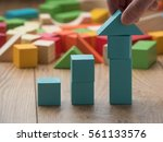 increasing arrow made by... | Shutterstock . vector #561133576