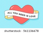 old ribbon with message all you ... | Shutterstock .eps vector #561136678