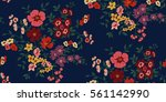 seamless floral pattern in... | Shutterstock .eps vector #561142990