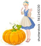Cinderella Surprised By Pumpki...
