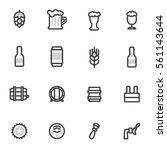 beer vector icons  labels ... | Shutterstock .eps vector #561143644