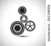 gears set icon vector... | Shutterstock .eps vector #561148006