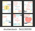 vector set of love cards for... | Shutterstock .eps vector #561150550