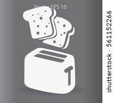 flat toaster vector icon   Shutterstock .eps vector #561152266