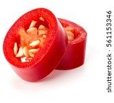 sliced red chili or chilli...   Shutterstock . vector #561153346