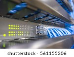 network switch and ethernet... | Shutterstock . vector #561155206