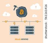 bitcoin mining  vector   Shutterstock .eps vector #561161416