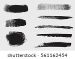 vector collection of black ink  ... | Shutterstock .eps vector #561162454