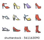 women shoes icon | Shutterstock .eps vector #561163090